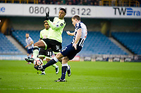 Football - 2016 / 2017 FA Cup - Third Round: Millwall vs. AFC Bournemouth<br /> <br /> Tony Craig Capt of Millwall challenged by Lys Mousset of Bournemouth at The Den.<br /> <br /> COLORSPORT/WINSTON BYNORTH