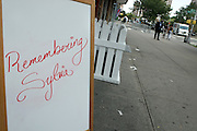 July 24, 2012-New York, NY:  attends the official Slyvia Woods Harlem Community memorial and send off through the streets of Harlem. Sylvia Woods was an American restaurateur who co-founded the landmark restaurant Sylvia's in Harlem on Lenox Avenue, New York City with her husband, Herbert Woods, in 1962 (Photo by Terrence Jennings)