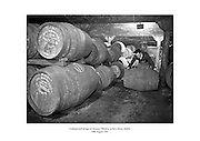 Underground storage of Jameson Whiskey at Bow Street, Dublin.<br />