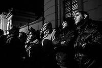 """Caserta, Italy - 22 January 2013:  Comic Beppe Grillo, leader of the 5 Stars Movement in Naples, Italy, on January 22nd 2013.CASERTA, ITALY - 22 JANUARY 2013: Beppe Grillo, a comedian and leader of the 5 Stars Movement (M5S, Movimento 5 Stelle) rallies in Caserta on January 22, 2013. Grillo, whom presents itself as a """"non-politician"""", and the 5 Stars Movement as """"not a party"""". Grillo has been running a mostly internet-based political campaign through the party's blog and the local groups that have emerged from it. The movement has a strong anti-politics agenda: """"All political parties are crooked and they all need to go"""", Grillo says.<br /> <br /> <br /> A general election to determine the 630 members of the Chamber of Deputies and the 315 elective members of the Senate, the two houses of the Italian parliament, will take place on 24–25 February 2013. The main candidates running for Prime Minister are Pierluigi Bersani (leader of the centre-left coalition """"Italy. Common Good""""), former PM Mario Monti (leader of the centrist coalition """"With Monti for Italy"""") and former PM Silvio Berlusconi (leader of the centre-right coalition).<br /> <br /> ###<br /> <br /> ROMA, ITALIA - 24 GENNAIO 2013: <br /> <br /> a Roma, il 24 gennaio 2013.<br /> <br /> Le elezioni politiche italiane del 2013 per il rinnovo dei due rami del Parlamento italiano – la Camera dei deputati e il Senato della Repubblica – si terranno domenica 24 e lunedì 25 febbraio 2013 a seguito dello scioglimento anticipato delle Camere avvenuto il 22 dicembre 2012, quattro mesi prima della conclusione naturale della XVI Legislatura. I principali candidate per la Presidenza del Consiglio sono Pierluigi Bersani (leader della coalizione di centro-sinistra """"Italia. Bene Comune""""), il premier uscente Mario Monti (leader della coalizione di centro """"Con Monti per l'Italia"""") e l'ex-premier Silvio Berlusconi (leader della coalizione di centro-destra).CASERTA, ITALY - 22 JANUARY 2013: Beppe Grillo, a comedian and leader of th"""