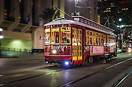 Street Car in New Orleans on Canal Street.