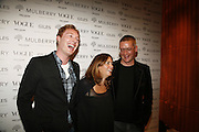 Stuart Vevers, Alex Shulman and Giles Deacon, Alex Shulman of Vogue and Mulberry host a party for Giles Deacon. ( Mulberry for Giles) Mulberry. New Bond St. 20 September 2006. ONE TIME USE ONLY - DO NOT ARCHIVE  © Copyright Photograph by Dafydd Jones 66 Stockwell Park Rd. London SW9 0DA Tel 020 7733 0108 www.dafjones.com