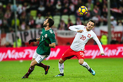 November 13, 2017 - Gdansk, Poland - Rafal Wolski (POL) vies Miguel Layun (MEX) during the International Friendly match between Poland and Mexico at Energa Stadium in Gdansk, Poland on November 13, 2017. (Credit Image: © Foto Olimpik/NurPhoto via ZUMA Press)