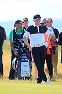 Sandy Scott (GB&I) on the 17th during Day 2 Foursomes of the Walker Cup, Royal Liverpool Golf CLub, Hoylake, Cheshire, England. 08/09/2019.<br /> Picture Thos Caffrey / Golffile.ie<br /> <br /> All photo usage must carry mandatory copyright credit (© Golffile   Thos Caffrey)