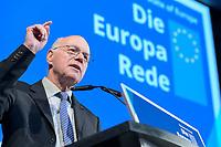 08 NOV 2019, BERLIN/GERMANY:<br /> Norbert Lammert, CDU, Praesident der KAS, haelt die Begruessungsrede vor der Europa Rede von U rsula von der L eyen, gewaehlte EU-Kommissionspräsidentin. Die Europa Rede, ist eine jaehrlich wiederkehrende Stellungnahme der hoechsten Repraesentanten der Europaeischen Union zur Idee und zur Lage Europas, organisiert von der Konrad-Adenauer-Stiftung, der Stiftung Zukunft Berlin und der Stiftung Mercator, Allianz Forum<br /> IMAGE: 20191108-01
