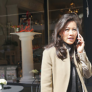 London,England,UK : 20th April 2016 : Designer and owner of Lucy Choi London attend the  Spring / Summer 2016 collection press day at 18 Connaught Street in London. Photo by See Li