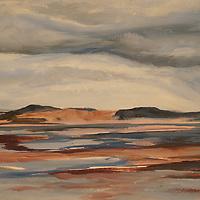 Morro Bay Fog. Plein air oil sketch, 9 x 12.