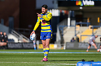 Warrington Wolves' Gareth Widdop warms up<br /> <br /> Photographer Alex Dodd/CameraSport<br /> <br /> Rugby League - Betfred Challenge Cup Quarter Finals - Catalans Dragons v Warrington Wolves - Friday 7th May 2021 - Emerald Headingley Stadium - Leeds<br /> <br /> World Copyright © 2021 CameraSport. All rights reserved. 43 Linden Ave. Countesthorpe. Leicester. England. LE8 5PG - Tel: +44 (0 116 277 4147 - admin@camerasport.com - www.camerasport.com