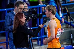 05-03-2017  SRB: European Athletics Championships indoor day 3, Belgrade<br /> Vivian Ruijters (losse veters) interviewt Thijmen Kupers