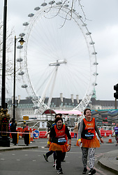 Runners in action during the 2018 London Landmarks Half Marathon. PRESS ASSOCIATION Photo. Picture date: Sunday March 25, 2018. Photo credit should read: Steven Paston/PA Wire