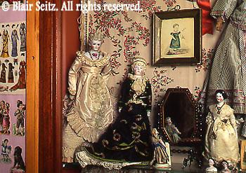 Parian and China dolls, late 1800's, Merritt's Doll Museum, Douglassville, Berks Co., PA