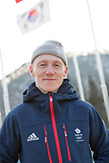 Freeskier Tyler Harding, Great Britain, at the Pyeongchang athlete village on February 16th 2018 in Pyeongchang-gun, South Korea.