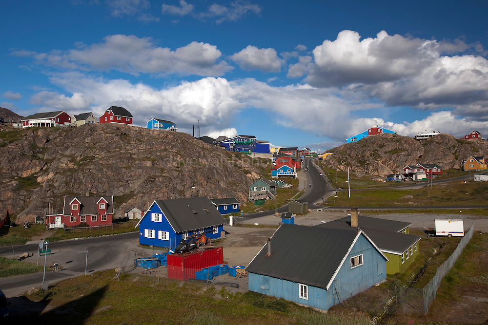 Buildings in Sisimiut, the second largest town in Greenland