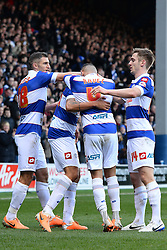 QPR's Jermaine Jenas celebrates scoring a goal - Photo mandatory by-line: Mitchell Gunn/JMP - Tel: Mobile: 07966 386802 01/03/2014 - SPORT - FOOTBALL - Loftus Road - London - Queens Park Rangers v Leeds United - Championship