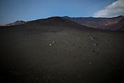 ASO MOUNTAIN, JAPAN - Aso mountain is one of the biggest caldera in the world Over 25km large. In the center the nakadake volcano is still active . It smells sulphurate - Arround the volcano, there's a large black ash desert that people can cross to climb over the mount -April 2009 ***[FR]*** Le mont Aso est au centre de l'une des plus grandes caldera du monde. Au sommet, le mont Nakadake est un volcan toujours actif. Autour du cratère on peut traverser un large désert de cendre noire.