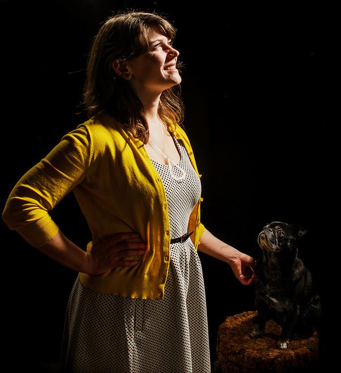 Baltimore, Maryland - January 28, 2014:<br /> <br /> Kristen Rigney, her pug Bernie, and cat Gizmo<br /> <br /> CREDIT: Matt Roth