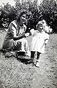 mother with toddler rural France 1960s 1950s