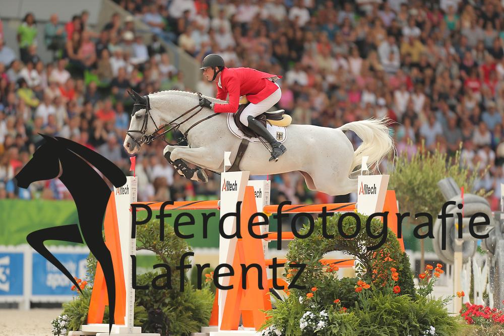 Deusser, Daniel, Cornet D´Amour<br /> Normandie - WEG 2014<br /> Springen - Finale III<br /> © www.sportfotos-lafrentz.de/ Stefan Lafrentz