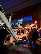Bayswater, London,  Reading University, Rick EDINGTON, pulling, Bill LUCAS, holds the feet,  during the Snowdon Rowing Challenge, on Friday   05/03/2010  at the Porchester Hall London GREAT BRITAIN.  [Mandatory Credit. Peter Spurrier/Intersport Images]