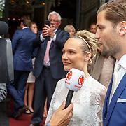 NLD/Amsterdam/20150620 - Huwelijk Kimberly Klaver en Bas Schothorst, interview