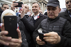 May 3, 2017 - Warsaw, Poland - People take a Selfie with President of Republic Of Poland Andrzej Duda in Warsaw on May 3, 2017. (Credit Image: © Maciej Luczniewski/NurPhoto via ZUMA Press)