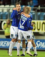 Fotball <br /> Tippeligaen<br /> 05.04.2010 <br /> Molde v Brann 3-2<br /> Aker stadion<br /> Aksel berget skjølsvik - molde<br /> Emil johansson - molde<br /> <br /> Foto:Richard brevik Digitalsport