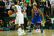 WACO, TX - JANUARY 7: Wayne Selden Jr. #1 of the Kansas Jayhawks defends against Kenny Chery #1 of the Baylor Bears on January 7, 2015 at the Ferrell Center in Waco, Texas.  (Photo by Cooper Neill/Getty Images) *** Local Caption *** Wayne Selden Jr.