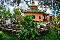 Buddhist temple, Long Hung, Chau Thanh, Mekong Delta, Vietnam.