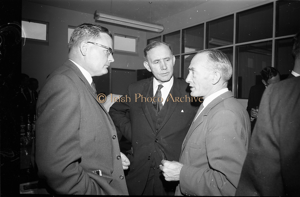 21/06/1965<br /> 06/21/1965<br /> 21 June 1965<br /> Cutting first sod for the Irish-Swiss Institute of Horology, Blanchardstown, Dublin. The institute, that was to hold courses in watch repairing,was due to an agreement between the Department of Education and the Swiss Watch Industry. Photographed at the ceremony were (l-r): Mr. Marc E. Golay, Director of the Institute, Dr. T. O'Raftery, Secretary Department of Education and Mr. Michail O'Flanagan, Chairman of the Institute.