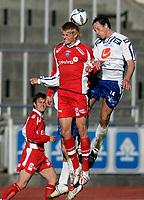 Fotball , 5. juni 2006 Adeccoligaen, Haugesund - Kongsvinger<br /> Kongsvingers ?  og Haugesunds Ivar Sandvik<br /> Foto: Jan Kåre Ness , Digitalsport