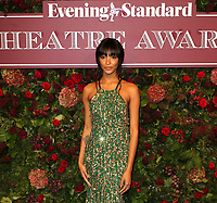 Jourdan Dunn, Evening Standard Theatre Awards, London Coliseum, London, UK, 24 November 2019, Photo by Richard Goldschmidt