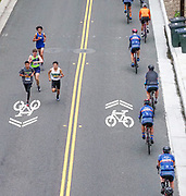 Runners and Bikers Share the Road at the Corona del Mar Scenic 5K