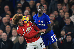 5 November 2017 -  Premier League - Chelsea v Manchester United - Marouane Fellaini of Manchester United in action with Antonio Rudiger of Chelsea - Photo: Marc Atkins/Offside
