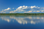Clouds reflected in the Mackenzie River (Mackenzie Highway)<br /> Fort Simpson<br /> Northwest Territories<br /> Canada