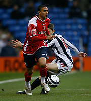 Photo: Steve Bond/Sportsbeat Images.<br /> West Bromwich Albion v Charlton Athletic. Coca Cola Championship. 15/12/2007. Jerome Thomas (front) skips past Zoltan Gera
