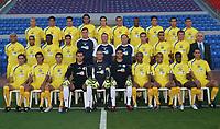 Fotball<br /> <br /> Foto: MTA/Digitalsport<br /> NORWAY ONLY<br /> <br /> 27.08.2004<br /> <br /> Maccabi Tel Aviv Fc - Squad photo 2004/2005<br /> <br /> Up row: (left to right):<br /> Erez Mesika, Roy Dayan, Salem abu-siam, Marcio Giovanini, Tamir Cohen, Oren Zitoni, John Panstil, Yakir Shina, Kobi Moosa, Idan Biton.<br /> <br /> Middle row: (left to right):<br /> Bruno Reis, Reoven Oved, Ndala Ibrahim, Liran Cohen, Alexander Ovarov (ass. Coach), Nir Klinger (head coach), Ron Zivlin (trainer), Moshe Mishaelof, Lior Gan,  Roman Haustov, Avner Tuito (team manager).<br /> <br /> Down row (left to right): <br /> Asaf Crispis, Sagi Mizrachi, Eli biton, Nir Gal, Liran Strauber, Guy Haimov. Barukh Dego, Barak Vered, Ishmael Addo, Avi Stroll