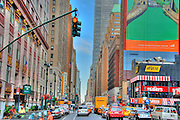 Manhattan, New York City, Midtown, Buildings, Traffic
