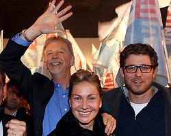 José Fortunati, Regina Becker e Bernardo durante lançamento do comitê central. FOTO: Jefferson Bernardes / Preview.com