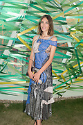 ALEXA CHUNG, Serpentine's Summer party co-hosted with Christopher Kane. 15th Serpentine Pavilion designed by Spanish architects Selgascano. Kensington Gardens. London. 2 July 2015.