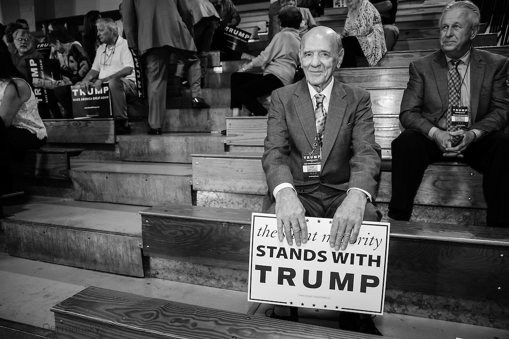 Madison, Mississippi, March 7, 2016 James Carr, a veteran at a Trump rally the day before Mississippi primary.