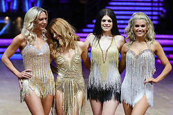Faye Tozer, Stacey Dooley, Lauren Steadman and Ashley Roberts (from left to right) pose for photographers during a photocall before the opening night of the Strictly Come Dancing Tour 2019 at the Arena Birmingham.