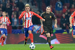November 22, 2017 - Madrid, Spain - Antoine Griezmann of Atletico de Madrid and Naingolann of AS Roma during the UEFA Champions League group C match between Atletico Madrid and AS Roma at Estadio Wanda Metropolitano on November 22, 2017 in Madrid, Spain  (Credit Image: © Mateo Villalba/NurPhoto via ZUMA Press)