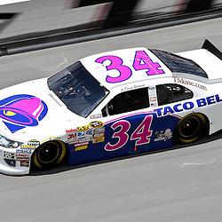 April 16, 2011; Talladega, AL, USA; NASCAR Sprint Cup Series driver David Gilliland (34) during qualifying for the Aarons 499 at Talladega Superspeedway.   Mandatory Credit: Derick E. Hingle