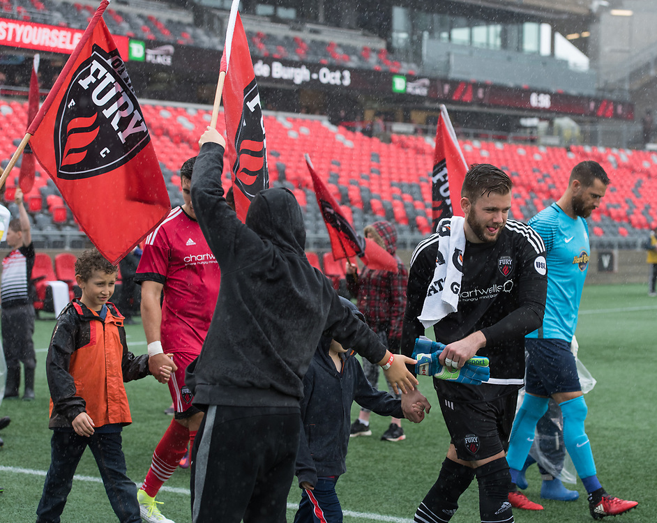 OTTAWA, ON - MAY 06: USL match between the Ottawa Fury FC and Tampa Bay Rowdies at TD Place Stadium in Ottawa, ON. Canada on May 6, 2017.<br /> <br /> PHOTO: Steve Kingsman/Freestyle Photography/Ottawa Fury FC