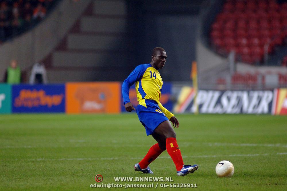 NLD/Amsterdam/20060301 - Voetbal, oefenwedstrijd Nederland - Ecuador, Segundo Castillo