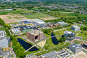 Nederland, Gelderland, Wageningen, 13-05-2019; Wageningen University & Research. Forum - Wageningen Campus, campus landbouw universiteit.<br /> <br /> luchtfoto (toeslag op standard tarieven);<br /> aerial photo (additional fee required);<br /> copyright foto/photo Siebe Swart