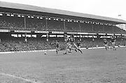 Players chase the ball during the All Ireland Senior Gaelic Football Championship Final Dublin V Galway at Croke Park on the 22nd September 1974. Dublin 0-14 Galway 1-06.