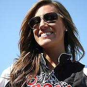 Miss Coors Light beer girl at Daytona International Speedway on February 18, 2011 in Daytona Beach, Florida. (AP Photo/Alex Menendez)
