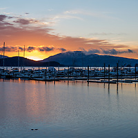 I started 2017 in Juneau, Alaska. That day I headed out to photograph sunrise and sunset which both brought plenty of color. For sunset I was at Auke Bay when I started to notice the color starting to appear in the sky. I found a good spot near Statter Harbor and watched the sunset for the evening. Plenty of people stopped by this location to capture the sunset using smart phones to large cameras.  Towards the bottom of the image you can see a little bit of a harbor seal which was enjoying swimming in front of us this evening as well.