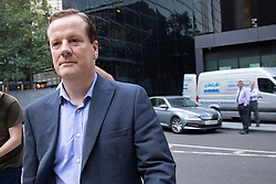 © Licensed to London News Pictures. 15/09/2020. London, UK. Former MP Charlie Elphicke arrives at Southwark Crown Court  to be sentenced after he was found guilty of three counts of sexual assault against two women .  Photo credit: George Cracknell Wright/LNP